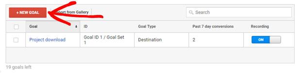 click new goal button