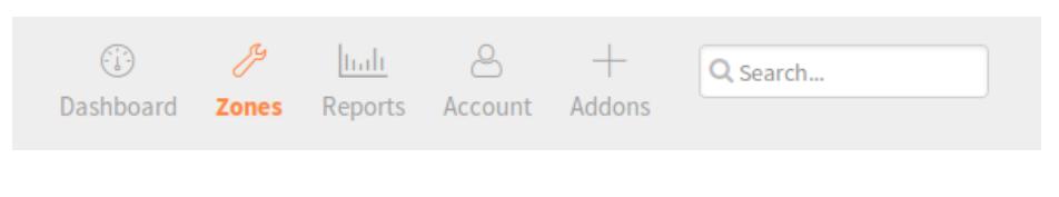 click zones from top menu