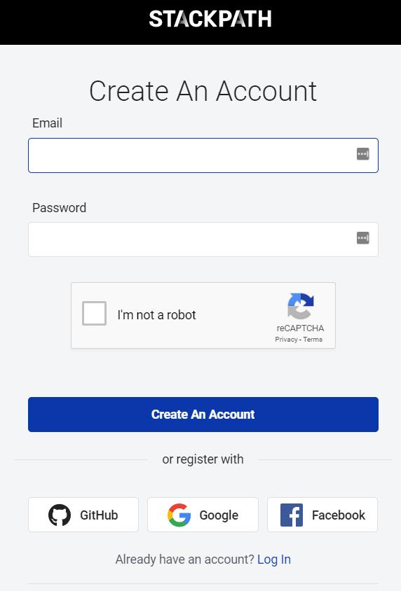 create an account on maxcdn