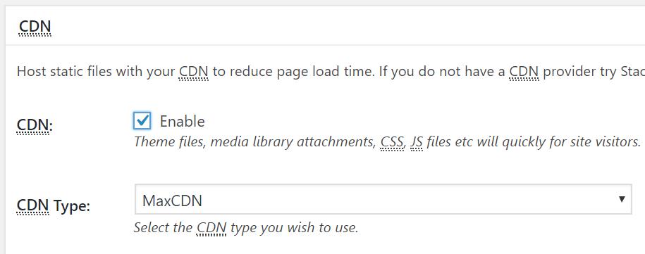w3 total cache cdn settings