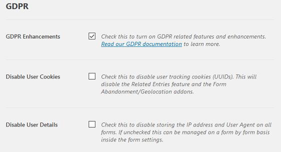 GDPR Enhancement Features