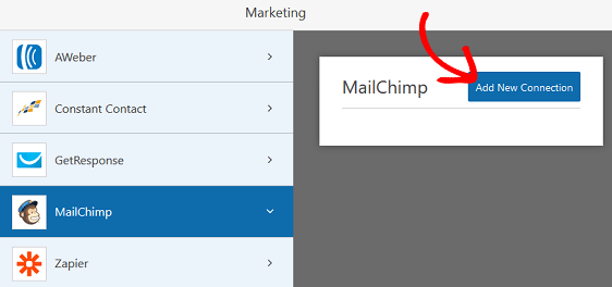 MailChimp Add New Connection